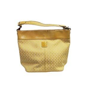Liz Claiborne Yellow Tote Bucket Bag